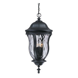 Savoy House - Savoy House KP-5-306 4 Light Outdoor Pendant from the Monticello Collection - *Four light External Chandelier / PendantFeatures Clear Watered GlassRequires four 60w candelabra base bulbs
