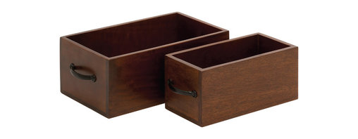 Simple and Beautiful Wood Organizer, Set of 2 - Description: