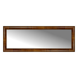 """Posters 2 Prints, LLC - 47"""" x 17"""" Belmont Light Brown Custom Framed Mirror - 47"""" x 17"""" Custom Framed Mirror made by Posters 2 Prints. Standard glass with unrivaled selection of crafted mirror frames.  Protected with category II safety backing to keep glass fragments together should the mirror be accidentally broken.  Safe arrival guaranteed.  Made in the United States of America"""