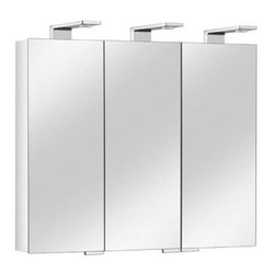 Keuco - Royal Universe Thin Triple Mirrored Cabinet | Keuco - Made in Germany by Keuco.With the Royal Universe Thin Triple Mirrored Cabinet, modern innovation meets premium design. The slender form and LED lit technology ensures a timelessly appealing design with maintenance-free, long-lasting lighting components. The mirrored front and sides prove that beauty truly is in the details while the sleek, chromed light fixtures enhance visibility and overall appeal of modern bathrooms. Product Features:
