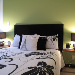contemporary bedroom by Fluff Designs & Decor