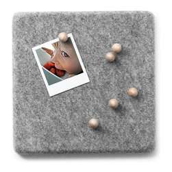 MENU - Felt Panel Pin Board - This stylish felt board is a great alternative to the traditional cork board. You could easily hang this in your kitchen to capture treasured snapshots and important reminders. It definitely makes a sophisticated statement no matter where you place it in your home.