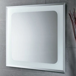 Nameeks - Nameeks | Iridium Vanity Mirror - Made in Italy. A part of Gedy by Nameek's.The Iridium Vanity Mirror adds a stroke of elegance to your contemporary bathroom. This wall mounted, square mirror, comes with a polished finish that fits in with any established motifs. This decorative mirror brightens up any modern bathroom with ease. Product Features: