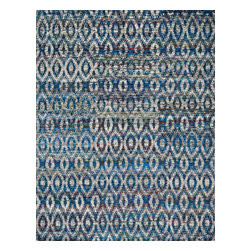 "Loloi Rugs - Loloi Rugs Giselle Collection - Mediterranean, 5'-6"" x 8'-6"" - The radiant Giselle Collection is hand knotted entirely of refurbished sari silks from India. Each design reverberates in stunning colors like ruby red and sapphire blue that make for an incredibly vibrant collection, ideal for contemporary to transitional interiors."