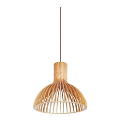 ParrotUncle - New Haim Wooden Pendant Lighting, Small - The New haim droplight is a first choice to place in a dining room,with its soft lamplight,your family's dinner will have more fun.