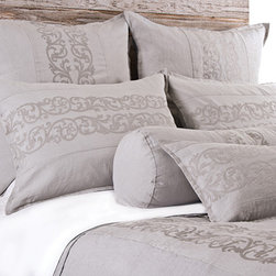 Allegra Flax Duvet Cover - The Allegra Duvet Cover from Pom Pom At Home is available in Cream, Flax, Grey Stone, Ocean, Sea Foam, Silver & White. FREE SHIPPING!