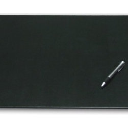 "Dacasso - 1000 Series Classic Leather 24 x 19 Desk Mat without Rails in Black - Desk Mat Features: -Black. -Constructed from top grain leather. -Overall Dimensions: 0.25"" H x 19"" W x 24"" D."