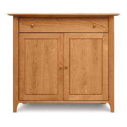 Copeland Furniture - Copeland Furniture Sarah 1 Drawer Over 2 Door Buffet 6-SAR-30-03 - The Sarah Dining Room exhibits the clean lines and balanced proportions of its Shaker influence. All pieces are made of solid cherry hardwood.