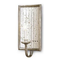 Currey & Co Twilight Wall Sconce, Rectangle