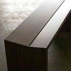 Split Seat Bench by henrybuilt furniture - Please click on the link below and admire the beautiful way all of the pieces of this gorgeous contemporary bench are put together. It shows the too-often lost craft of fine craftsmanship. this is an investment piece you will keep for life.