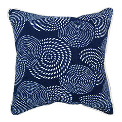 """Luru Home - 20"""" x 20"""" Skipper Pillow - Luru Home - LuRu Home works with Artisans along China's eastern seaboard to produce indigo hand - dyed textiles. Chinese have practiced Nankeen indigo hand - dying, a sibling of Japanese Shibori, for over 3,000 years. The process remains largely preserved despite the idustrialization of the textile market."""