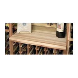 Wine Cellar Innovations - Designer Table Top Below Glass Rack (Rustic Pine - Unstained) - Choose Wood Type and Stain: Rustic Pine - Unstained. Pictured in unstained prime mahogany wood. Beveled ends and rounded edges. 0.69 in. thickness. Made in USA. 27.69 in. L x 14.19 in. W (8 lbs.). Warranty. Assembly Instructions. Rack should be attached to a wall to prevent wobbleThe wooden Tabletop is designed to be placed above the Half height wine rack providing a convenient area to open your bottles of wine.