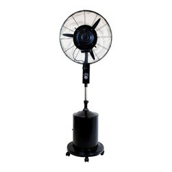 "Lava Heat - LA-3-100101 Oasis 26"" Misting Fan with Height Adjustment  Cooling Feature  3 Spe - Evaporation coolers are a popular alternative to air conditioning at home and at work With a 26 blade and a 5-gallon water tank this industrial-grade oscillating misting fan can reduce ambient heat by as much as 30 in any outdoor area It has three sp..."