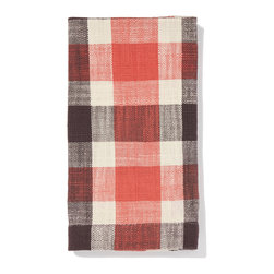 """Pehr Designs - Berry, Plum Slubby Cotton Napkin- Set of 2 - These buffalo check napkins are what really allow you to have fun mixing and matching. All napkins are 20"""" x 20"""", machine washable and made of 100% natural slubby cotton."""