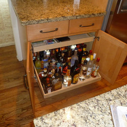 ... liquor cabinet. Easily see the bottles stored in the back of the shelf