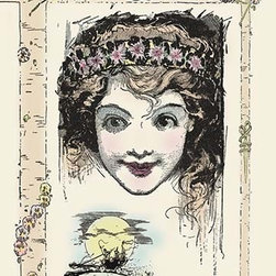 """Buyenlarge.com, Inc. - Dorothy- Gallery Wrapped Canvas Art 28"""" x 42"""" - John Rea Neill (1877 - 1943) was a magazine and children's book illustrator primarily known for illustrating more than forty stories set in the Land of Oz, including L. Frank Baum's, Ruth Plumly Thompson's, and three of his own. His pen-and-ink drawings have become identified almost exclusively with the Oz series."""