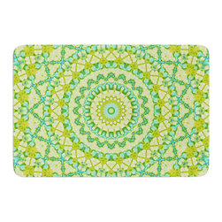 "KESS InHouse - Iris Lehnhardt ""Aquatic Garden"" Green Memory Foam Bath Mat (17"" x 24"") - These super absorbent bath mats will add comfort and style to your bathroom. These memory foam mats will feel like you are in a spa every time you step out of the shower. Available in two sizes, 17"" x 24"" and 24"" x 36"", with a .5"" thickness and non skid backing, these will fit every style of bathroom. Add comfort like never before in front of your vanity, sink, bathtub, shower or even laundry room. Machine wash cold, gentle cycle, tumble dry low or lay flat to dry. Printed on single side."