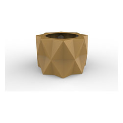 Decorpro - Buntry Planter (SPANISH GOLD) - Made from a non-toxic food grade polymer based fiberglass resin, these contemporary planters will never rot, mildew, split, cup or warp. This material offers an unparalleled combination of uniformity, durability and beauty. These modern outdoor planters are available in our standard colours or you have the option of selecting a custom colour. Decorpro planters meet all your performance and durability requirements. Whether exposed to salt water the rough and tumble of everyday wear and tear of home or commercial use, our gel coats maintain a beautiful finish no matter how tough the conditions get.