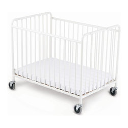 Foundations - Foundations StowAway Folding Compact Size Crib with Mattress - 1231090 - Shop for Cribs from Hayneedle.com! What We Like About the StowAway Folding CribFoundations Steel Cribs are made specifically for commercial use. They are constructed of heavy-duty steel utilizing a 360 degree welding process to ensure durability. The non-porous easy to clean powder-coated finish resists corrosion and scratches. These cribs also feature reinforced locking floorboards and oversized locking casters made of non-marking material for easy transport over any surface. Cribs meet CPSC and ASTM crib safety standards and the new CFR 1633 fire standards. All instructions are printed in English and Spanish and are permanently affixed to avoid loss. Cribs arrive fully assembled and can fold flat in seconds. Full one-year warranty included.