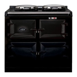 """AGA - ATC3BLK Total Control 39"""" Freestanding 3 Oven Electric Range Cooker with 10 Cook - The AGA Total Control Range Cooker is a newly designed version of the classic icon of British cooking Three radiant-heat cast iron ovens and two hotplates give you 10 delicious ways to cook in one rangeJust imagine the ability to bake roast boil simm..."""