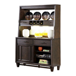Liberty Furniture Visions Server in Mocha, Dark Wood