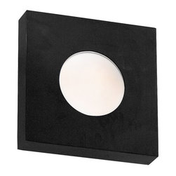 Kenroy Home - Kenroy Home Burst Square Wall Sconce/Flush Mount 8 in. Black - 72825BL - Shop for Wall Mounted from Hayneedle.com! The crisp clean lines of the Kenroy Home Burst Square Wall Sconce perfectly match the clear halogen light that washes out of it. This square flush-mount fixture works indoors or out providing a soft glow in your media room hallway or patio. All Burst series sconces include both a White Opal and Cobalt Blue convex glass so you can mix match or redecorate. The quality all metal frame is finished in satin black. Uses one 75W JE-E11 halogen candelabra bulb which is included.About Kenroy HomeEmployee-owned Kenroy Home creates a large range of lighting and home decor products. Having recently purchased Hunter Lighting Group Kenroy Home is now positioned to expand their product lines and take their customer focus to the next level. With an experienced team and advanced equipment Kenroy Home provides an unparalleled spectrum of products and services. Trained designers and technicians create functional works of art that exceed appearance and performance expectations. Their craftsmanship matches materials and finishes to each application for showroom quality at superior values. Product collections are designed to facilitate mix-and-match coordination.