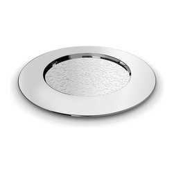 "Alessi - Alessi ""Dressed"" Placemat - This is a placemat in 18/10 stainless steel mirror polish with relief decoration."