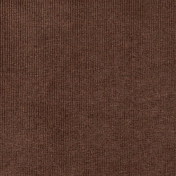 Chocolate Brown Thin Striped Woven Velvet Upholstery Fabric By The Yard - This velvet fabric is woven for appearance and increased durability. It is excellent for all indoor upholstery, including residential and commercial.