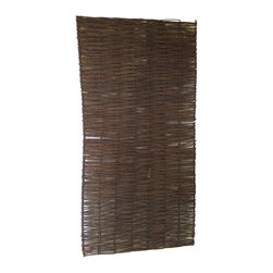 "Master Garden Products - Willow Woven Hurdle Panel, 36""L x 72""H, Set of 2 pieces - These beautiful willow hurdles are hand woven, to a traditional design, has an outdoor life of approximately eight years and needs no added treatment. Can be easily set up by nailing them to the wood post or tied to a metal chain link fence. The woven pattern can be changed according to your taste by placing them vertically or horizontally. These hurdles panels have a variety of uses, from providing attractive windbreakers to dividing areas in your garden. They can be set up and viewed horizontally or vertically. The are very flexible and bendable, which is ideal for irregularly shaped and circular pattern screening. Our willow hurdle panels can bend up to 120 degrees, three 72"" wide panels can be installed in a circle up to 72"" in diameter."