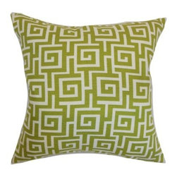 The Pillow Collection Warder Greek Key Pillow - The key to great design comes home with The Pillow Collection Warder Greek Key Pillow. Made of 100% soft cotton, this classic square pillow features a plush 95/5 feather/down insert for the ultimate in softness. The elegant geometric design is available in various colors so you can customize the look and perfect your stylish space.About The Pillow CollectionIdentical twin brothers Adam and Kyle started The Pillow Collection with a simple objective. They wanted to create an extensive selection of beautiful and affordable throw pillows. Their father is a renowned interior designer and they developed a deep appreciation of style from him. They hand select all fabrics to find the perfect cottons, linens, damasks, and silks in a variety of colors, patterns, and designs. Standard features include hidden full-length zippers and luxurious high polyester fiber or down blended inserts. At The Pillow Collection, they know that a throw pillow makes a room.