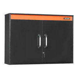 Black & Decker - Black & Decker Garage and Workshop Wide Wall Cabinet - This locking garage wall cabinet gives you plenty of space to store your most precious tools, and its adjustable shelf helps you keep them organized. It is easy to mount, and it is made of durable engineered wood with a quality laminate finish.