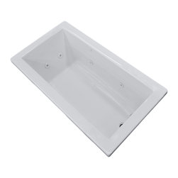 Venzi - Venzi Villa 32 x 66 Rectangular Whirlpool Jetted Bathtub - The Villa series bathtubs resemble simplicity set in classic design. A rectangular, minimalism-inspired design turns simplicity of square forms into perfection of symmetry.
