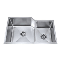 """Kraus - Kraus 32"""" Undermount Double Bowl Stainless Steel Sink Combo Set - Add an elegant touch to your kitchen with unique Kraus kitchen combo"""