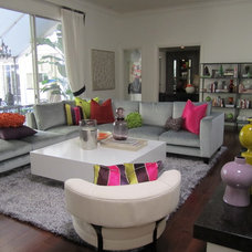 Contemporary Family Room by C & F Custom Furniture Mfg.