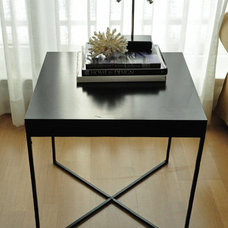 Modern  IKEA Lack Side Table Repurposed/Hacked