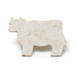 Go Home - Marble Cow Cheeseboard- Set Of 2 - These Cow Cheeseboards are a fun way to greet guests. Each is crafted of white marble, so the naturally cool surface makes an ideal platter for serving cheese.