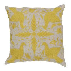 "Surya - Surya 18 x 18 Decorative Pillow, Oatmeal and Quince Yellow (LD017-1818P) - Surya LD017-1818P 18"" x 18"" Decorative Pillow, Oatmeal and Quince Yellow"