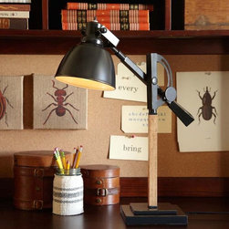 Wood/Metal Task Lamp - This desk lamp is so chic that I'm surprised I didn't find it at one of those expensive modern retailers. The little bit of wood detailing puts it over the edge.