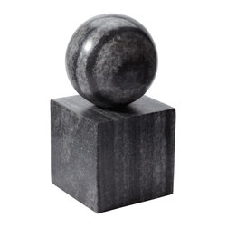 Lazy Susan - Lazy Susan 786022 Gray Marble Minimalist Bookend - Marble is a classic material, beloved for centuries for its strength, beauty and practicality. Here, it is hand sculpted into a modern, minimalist shape about eight inches high. Use it as a bookend, a paperweight or a beautiful addition to a decorative grouping on your table or shelf.