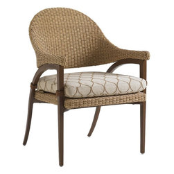 Lexington - Tommy Bahama Aviano Dining Chair - The graceful sweep of the back leg makes a design statement unto itself. The effect is even more dramatic with the cushion tabs blending into the mocha finished frame. Outdoor dining has never been more stylish.