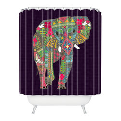 DENY Designs - Sharon Turner Painted Elephant Shower Curtain - Who says bathrooms can't be fun? To get the most bang for your buck, start with an artistic, inventive shower curtain. We've got endless options that will really make your bathroom pop. Heck, your guests may start spending a little extra time in there because of it!