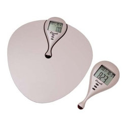 Escali - Escali Body Mass Index Scale - Checking the numbers: This scale calculates your BMI by taking your height into account when measuring your weight and puts the results in the palm of your hand via a remote receiver.