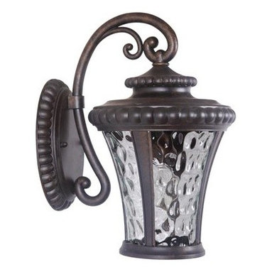 Jeremiah Lighting - Jeremiah Lighting Z1254 1 Light Ambient Light Outdoor Wall Sconce from the Presc - Jeremiah Lighting Z1254 Prescott II 1 Light Ambient Light Outdoor Wall SconceThe rustic appeal of this outdoor wall sconce from the Prescott II collection is enhanced by clear hammered glass, embossed detailing, and classic metal finishing. This fixture will complement the decor of any outdoor lighting application.Clear hammered glass, embossed detailing, and classic metal finishing bring a timeless handcrafted look to the Prescott II collection. The rustic appeal of these outdoor fixtures are sure to bring a touch of elegance to any outdoor setting.Jeremiah Lighting Z1254 Features: