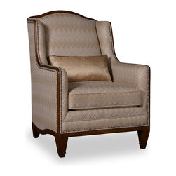 A.R.T. - A.R.T. Ava High Back Accent Chair in Creme - Country classic style in modern appeal displayed with the Ava living room collection. With solid wood construction and comes in creme fabric finish, this living room furniture is sure to show off their elegance. Heavy button tufting for additional durability and added appeal, solid wood frames with classically designed subtle carvings. This will be a perfect fit for your existing living room furniture or complete your living room set with the whole Ava living room collection. A classy and elegant home decor!