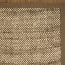 Chenille Jute Basketweave Rug 5 x 8', Espresso - A unique mix of fibers - naturally soft, iridescent chenille and durable jute - creates the perfect textural blend underfoot.Hand made of yarn-dyed chenille and natural jute by artisan rug makers.Crafted with sustainably harvested jute, a fast-growing, renewable natural fiber.Thick basket-weave rug is framed by color-matched cotton twill.Rug swatches, below, are available for $25 each. We will provide a merchandise refund for rug swatches if they're returned within 30 days.Use with our Rug Pad (sold separately).Catalog / Internet Only.Imported.