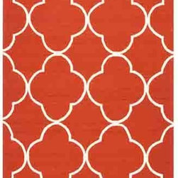 Jaipur - Barcelona BA66 Red Rectangular: 2 Ft. x 3 Ft. Rug - - Inspired by the rich history and range of design movements that have defined the architecture of Spain's cultural center the Barcelona Collection brings a transitional flair to any indoor or outdoor space. Whether the style leans towards fun boldly-scaled flourishes or understated simplicity this broad range offers something for every taste. Artfully developed in hand-hooked polypropylene Barcelona pairs the durability necessary to withstand the elements with the colorful spirit of the Catalonian countryside    - Construction: Hand-Hooked        - Indoor/Outdoor  - Pile Height: 0.25-Inch    - Care Instructions: Polyester is dirt and stain resistant and will look great for a long time just by vacuuming regularly Dries fast so deep steam/rug cleaning works great to release dirt from fiber If spills occur blot immediately Use rug/carpet cleaners that are safe on synthetic fibers Use professional cleaning agents only and to vacuum use an attachment arm or suction only to remove dirt particles. Jaipur - RUG117498