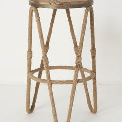 Reata Counter Stool - I love this design, with the aged wood top and wound frame, which really brings a sense of time to a kitchen-we love antique barstools for the same reason. Great design.