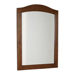 American Imaginations - 24-in. W x 32-in. H Traditional Birch Wood-Veneer Wood Mirror - This traditional wood mirror belongs to the exquisite Globe design series. It features a rectangle shape. This wood mirror is designed to be installed as an wall mount wood mirror. It is constructed with birch wood-veneer. This wood mirror comes with a lacquer-stain finish in Cherry color. Victorian style mirror constructed with high quality premiumglass with bevelled edges This Wood Mirror features Antique Brass hardware. No assembly required.