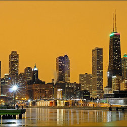 "WindyCityCanvas - Chicago Skyline, City View Canvas Print 18""x24"" by WindyCityCanvas - High quality 0.56 mm thick 400 gsm cotton canvas."