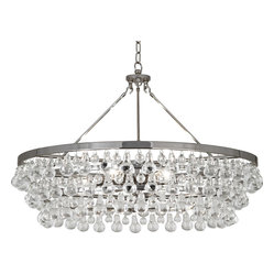 Robert Abbey - Bling Chandelier - Bust out the ballroom bling in your own home! Suspend this glass dropped chandelier in your chambers and invite the neighborhood over for a cotillion, conga line or krumping dance party!